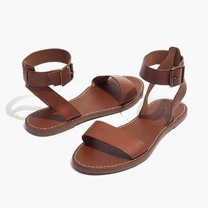 NEW- Madewell boardwalk ankle-strap sandal
